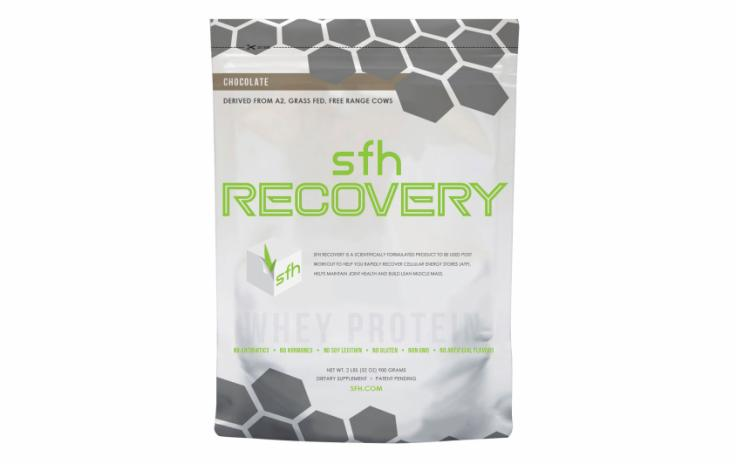 "SFH WHEY PROTEIN POWDER ""RECOVERY"" CHOCOLATE FLAVOR"
